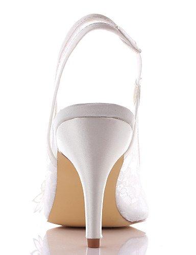 WSS 2016 Chaussures de mariage-Ivoire-Mariage / Habillé / Soirée & Evénement-Talons / Bout Ouvert-Sandales-Homme 3in-3 3/4in-ivory