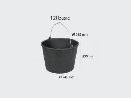 12 L Eimer Baueimer Kunststoff Mörteleimer Kübel Haus Garten Bau Skala Henkel