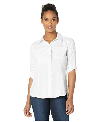 Royal Robbins Women's Expedition Dry Long Sleeve Top, White, Large (Royal Robbins Expedition)