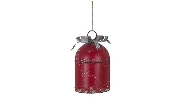 Blanc Maricl/ò Decoro Campana Natalizia in Metallo Rossa Addobbi Decorazioni Albero di Natale Oggettistica Casa A28335