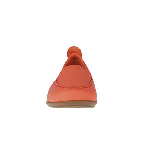 tessamino Damen Mokassin aus Hirschleder, klassisch, Weite H, für Einlagen Orange