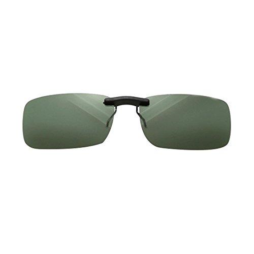 NoyoKere Unisex Polarisierte Clip On Sonnenbrille Driving Nachtsicht Objektiv Anti-UVA Anti-UVB Radfahren Reitausrüstung Clip Dunkelgrün