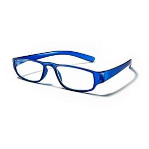 Extrem leichte Filtral Lesebrille in der Trendfarbe Blau | Moderne eckige Lesehilfe für Damen & Herren