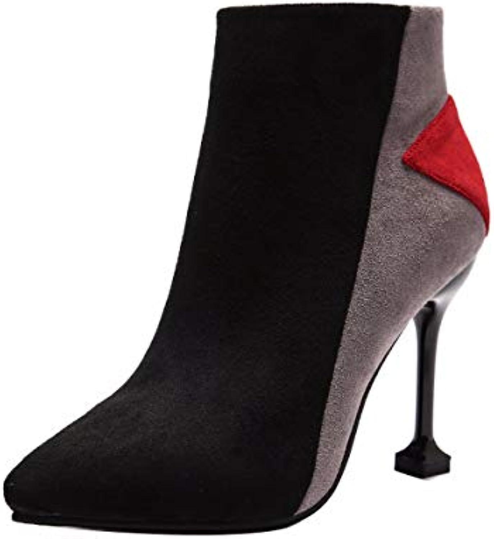 HBDLH Chaussures pour Femmes/Bottes pour Femmes Court À Court Femmes DE 10 Cm La Plate-Forme Mince des Bottes Imperméables... 64a71d