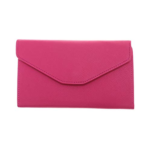 867ebf57ed9e TENDYCOCO Wallet Solid Envelope Clutch Purse PU Leather Handbag for Women  (Rosy)