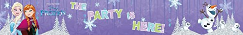 Generique PR89404 Banner The Party Is Here Fronzen, mehrfarbig, 3 Stück (Frozen Birthday Banner)