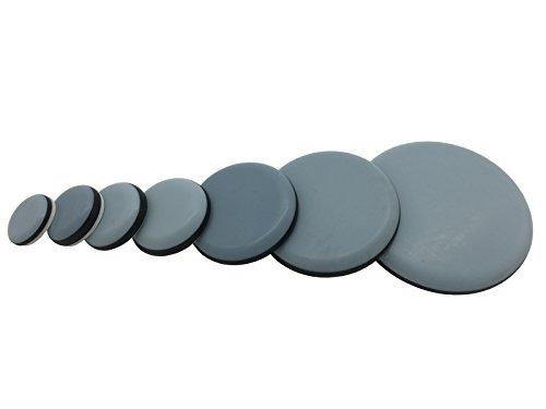 16 Stück Teflongleiter selbstklebend Ø 19-63 mm (30 mm) PTFE Gleiter Möbelgleiter