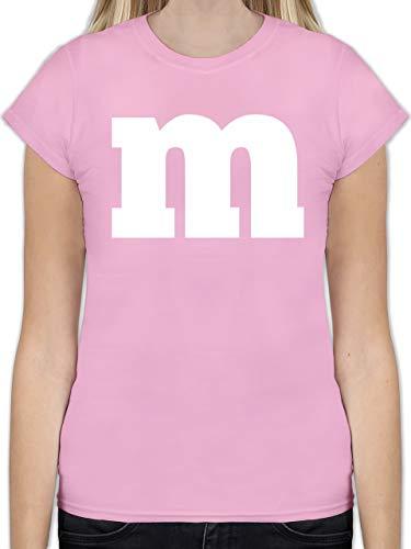 Karneval & Fasching - Gruppen-Kostüm m Aufdruck - XXL - Rosa - L191 - Tailliertes Tshirt für Damen und Frauen T-Shirt