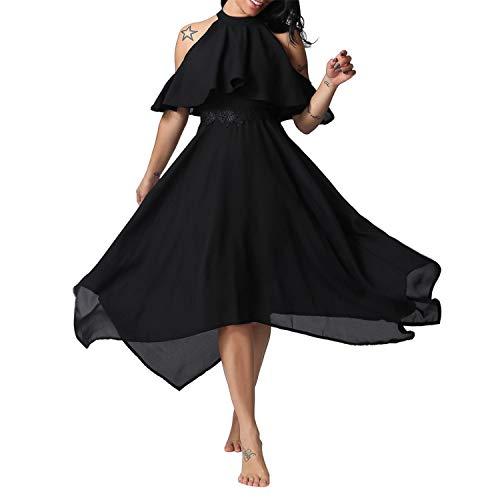 ♥ Loveso♥ Damen Plus Size Kleid Frauen Kleid Elegante Chiffon Cocktailkleid Partykleid Lässige Kleidung Abendkleid Frauenkleid Kleid -