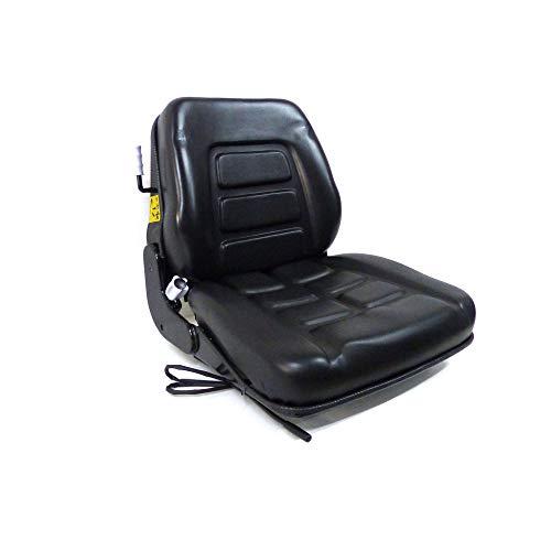 Gepolsterter Sitz mit Federung für Kettenfahrzeuge und Gabelstapler. Artikelnummer: 38026.
