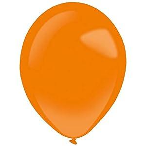 amscan 9905361 50 - Globos de látex estándar, Color Naranja