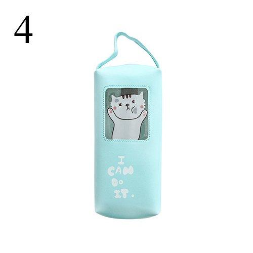 Eolunt - Cute Kawaii PU-Leder-Bleistift-Kasten Cartoon-Katze-Kaninchen-Bleistift-Beutel für Kind-Geschenk-Briefpapier Studenten 4116 [4] (Cartoon-bleistift-kasten)