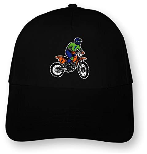 Samunshi Bunte Motocross Stunt Kinder Kappe Motorrad Cap Bedruckt Motox Junior Original 5 Panel Cap OneSize schwarz/Farbiger Aufdruck