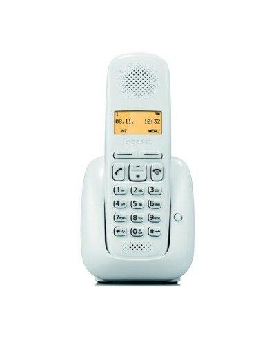 Gigaset A150 - Teléfono (Teléfono DECT, Terminal inalámbrico, 50 entradas, Blanco)