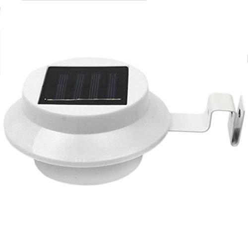 6 Rinne (SODIAL 6pack Au?en Solar Rinne Led Lichter - Wei? Sonne Strom Intelligente Solar Rinne Nacht Nutzen Sicherheit Licht)