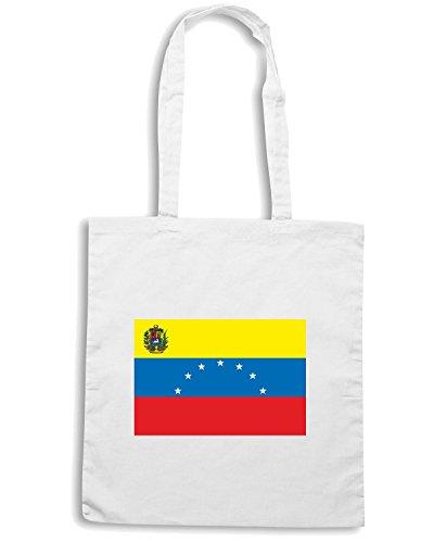 T-Shirtshock - Borsa Shopping TM0264 Venezuela flag Bianco