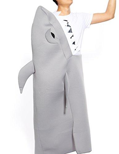Anladia Erwachse Damen Herren Halloween Kleid Hai Biss Kostüm Herrenkostüm Fisch Jumpsuit