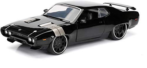 Jada Toys-Spielzeugauto 98292BK-Plymouth GTX-Dom-Fast and Furious 8-Maßstab 1:24-Schwarz