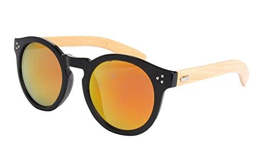 Insun Herren Sonnenbrille Gr. Einheitsgröße, Mehrfarbig - 4023MC5 Wood Frame