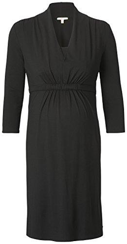 ESPRIT Maternity Damen Umstandskleid H84274, Knielang, Einfarbig, Gr. 36 (Herstellergröße: S), Schwarz (Black 001)