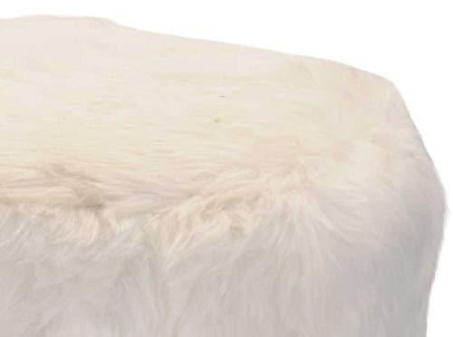 Sgabelli con pelliccia: pelliccia sgabello rettangolare cm marrone