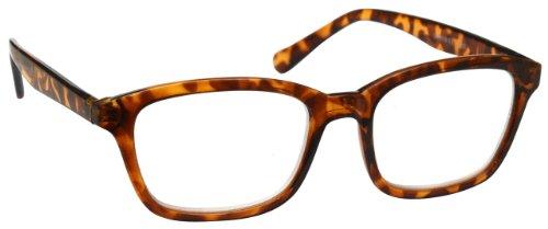 UV Reader Marrone Tartaruga Occhiali da Lettura Grande Stile Designer Uomo Donna Astuccio Compreso UVR019 Diottria +1,00