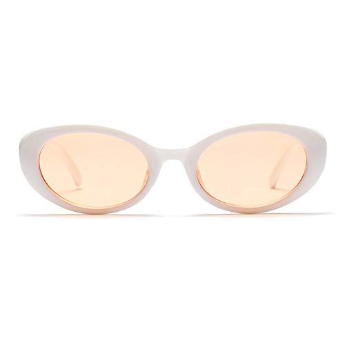 MOJINGYAN Sonnenbrillen,Vintage Cat Eye Sonnenbrille Frauen Designer Kleine Sonnenbrille Retro Kleine Rote Damen 2019 Weiß