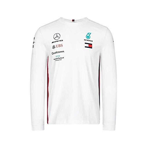 F1 Langarm (Mercedes-AMG Petronas Motorsport Men's 2019 F1TM. Team-Langarm-Driver-T-Shirt Weiß (M))