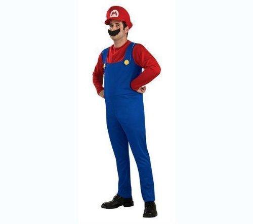Lieferung Und Paket Mann Kostüm - Erwachsenen-Kostüm Mario - Größe M