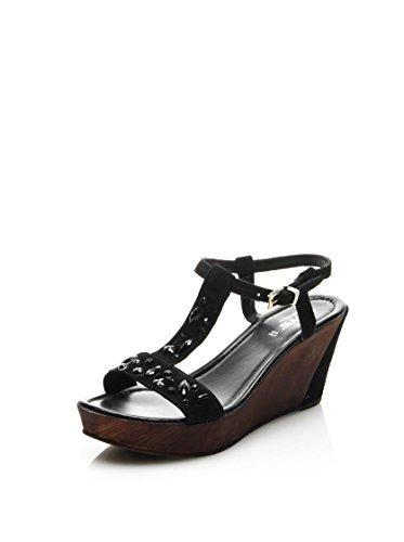 Keys 4855 sandali camoscio nero Nero