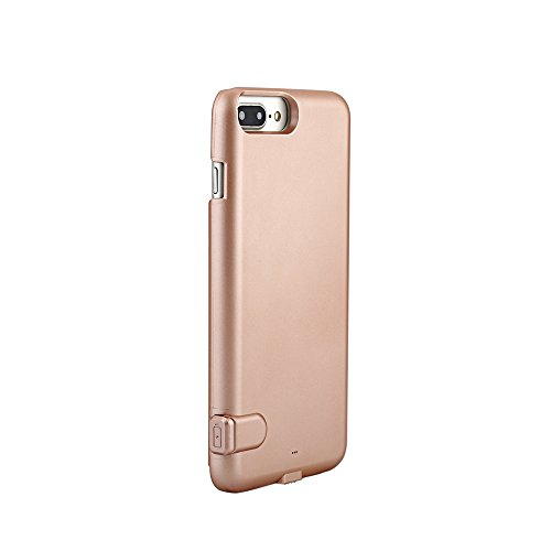 ROOP Ultra Slim Extended Battery Case Slim External Protective Charger Case 1500Mah External Detachable Power Bank Charger Pack Backup for iPhone 7 plus /7s plus , iPhone Slim Case (4.7, Grey) Rose Gold