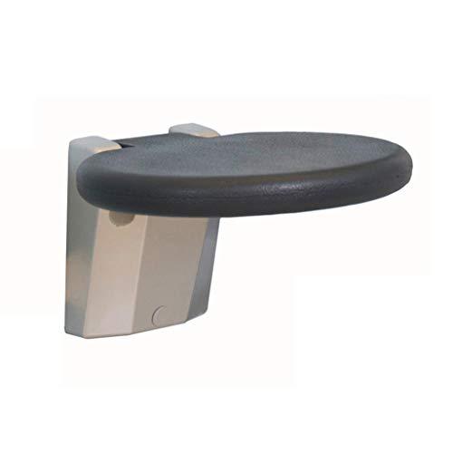 Dusch Badestühle Duschstuhl Duschsitz Duschhocker Duschstühle for Senioren Klappwandhocker Badezimmer Duschstuhl Schuhwechselstuhl Hilfsmittel für Bad (Color : Black, Size : 26.5 * 26.5 * 30cm)