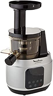 Moulinex Juice & Clean Powerful Slow Juicer with 4 Programs, 150 Watts, Black/Silver, Plastic/Stainless, Z