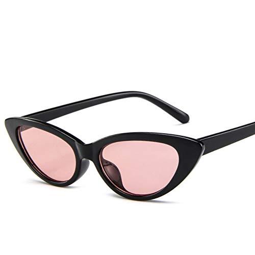 Retro- Art und Weise Steampunkweinlese der Sonnenbrillefrauen schwarze Augengläser Kleines Dreieckoval
