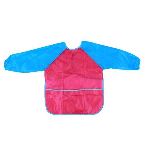 Beiswin Tablier à manches longues imperméable Art Craft Dessin Peinture Tablier Vêtements de protection Tablier pour enfants Enfants (Style 2)