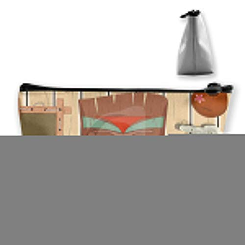 Tiki Bar Poster Totem Cosmetic Makeup Bag/Pouch/Clutch