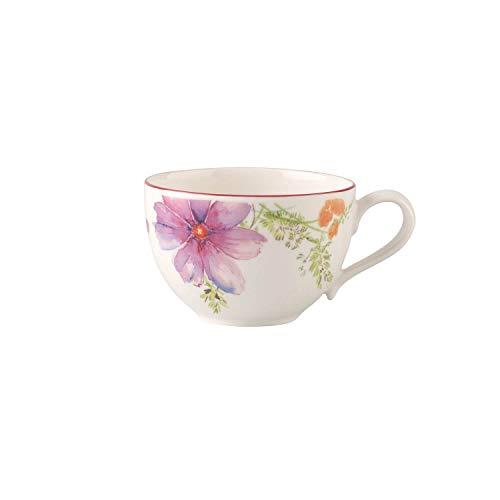 Villeroy & Boch 1041001240 Mariefleur Basic Tasse, Porcelaine Premium, Blanc/Multicolore, 7 cm