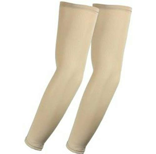 Acceptive's UV Protection Cooling Arm Sleeves - UPF 50 Long Sun Sleeves for Men and Women. (skin)
