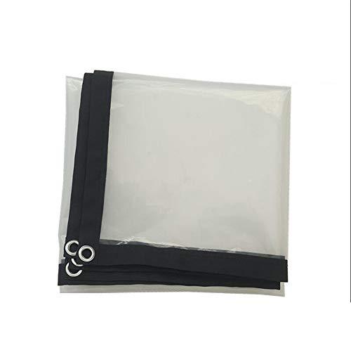 XRFHZT Transparente wasserdichte Hochleistungsplatte für regendichten Metallösen-Kunststoff,6mX6m