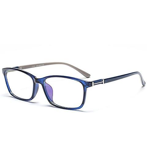 Vintage glasses for men and women fashion hipster librarian glasses box glasses frame flat mirror ,