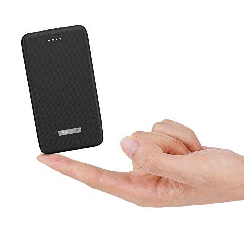 Vancely 10000mAh PowerBank Slim Tragbares Externer Akku, Klein and kompakt Power Bank Mit 4.8A Dual Output, hohe Kapazität Externer Batterie für iPhone, Samsung Galaxy,iPad,Huawei und weitere
