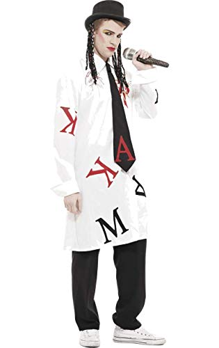 Kostüm Pop Stars Fancy Dress - Herren Boy George Pop Star Kostüm Karneval Fasching Verkleidung Standard
