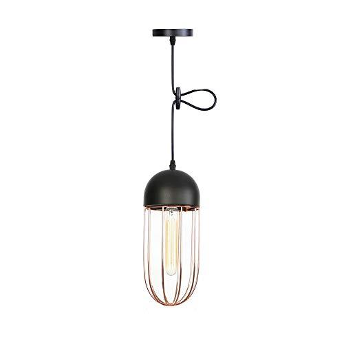 QEQ Vintage pendentif luminaire rétro industriel Lampe Suspension  industrielle Lustre plafonnier Lampe de culot E27 Lampe a441553d4549