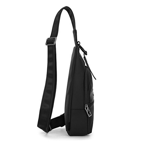 XSY Antifurto Zipper e Buckle Petto Borsa per Outdoor Sportivo Viaggio Spalla Borse Messenger Nero Nero