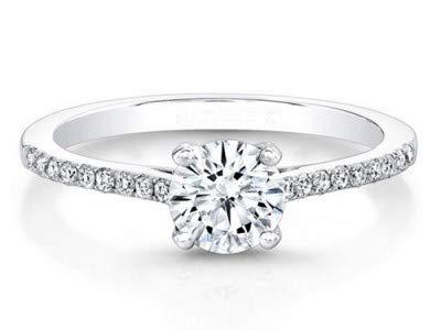 Für immer Diamant 18K massiv Weißgold Ringe (alle Größen verfügbar) 0,61 ct Runder Schliff Echte Solitaire Hochzeitsdiamanten Ringe Hallmarked Bribal Rings - Forever Diamond