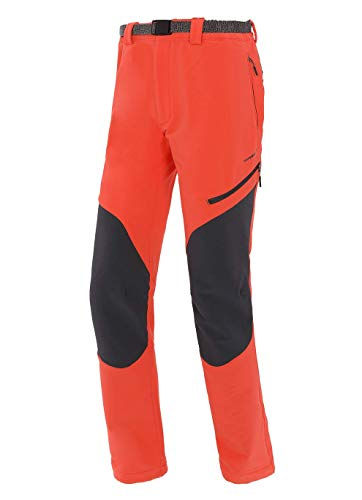 Trangoworld pc008100 – 6za-XL Pantalon Long, Homme, Orange Intense/Gris (Ombre Foncé), XL