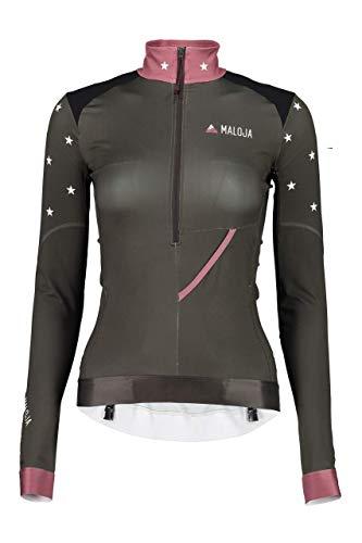 Maloja arezzom Multisport Shirt, Damen XL Grau (Charcoal)