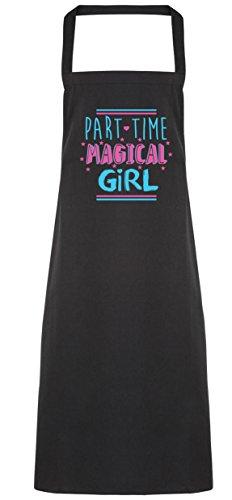 hippowarehouse Teil Zeit Magical Girl Schürze Küche Kochen Malerei DIY Einheitsgröße Erwachsene, schwarz, Einheitsgröße (Cute Baby Girl Kostüme Diy)