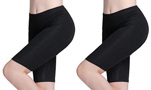 Vinconie Hose Unter Rock Schwarz Hose Unter Kleid Leggins Shorts Damen Leggings Kurz Damen (Schwarzes Kleid Hose Frauen Petite)