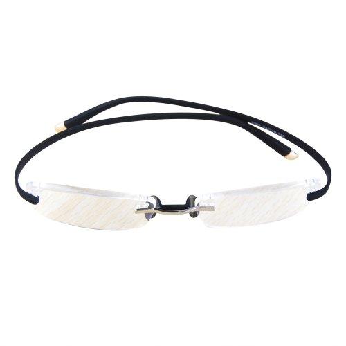 Preisvergleich Produktbild 2-Pack THG Anti-Ermüdungs-Folding-Handy Lesen Brille Randlos mini Etui +1.00 dpt. wählbar